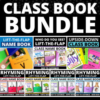 Class Book Bundle Make Your Own Class Books for Preschool and Kindergarten