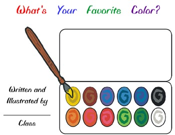 Class Book Cover for COLORS Theme
