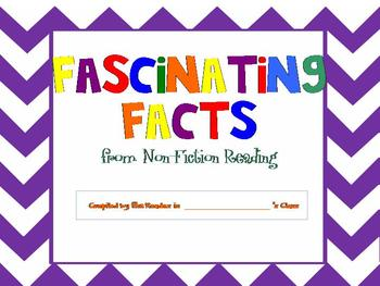 Class Book Cover for NonFiction Facts