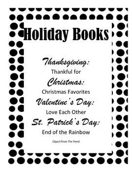 Class Book Holiday Templates (4 holidays)