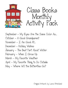 Class Book Monthly Activity Pack