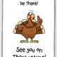 """Class Book: """"Mr. Turkey Won't You Come to Dinner?"""""""