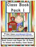 Class Book Pack 1 - Back to School/Seasonal