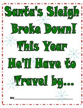 Class Book-Santa's Sleigh Broke Down!