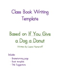 Class Book Template Based on If You Give a Dog a Donut