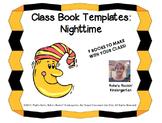 Class Book Templates: Nighttime