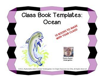 Class Book Templates: Ocean
