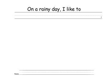 Class Book Templates: Rain