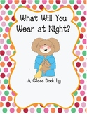 Class Book for Pajama Party based on Jesse Bear