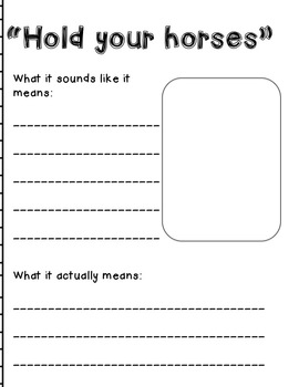 Class Book of Idioms {Common Core Aligned}