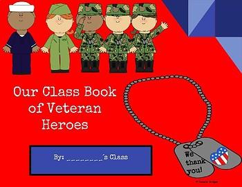 Class Book of Veteran Heroes & Other Activities: Digital & Printable Versions