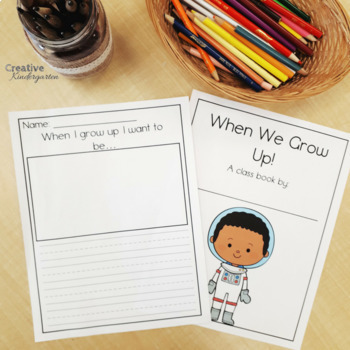 Class Books for the Whole Year - 40 Prompts for Kindergarten Writing Center