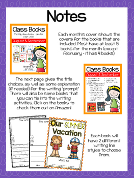 Class Books for the Year {August and September}