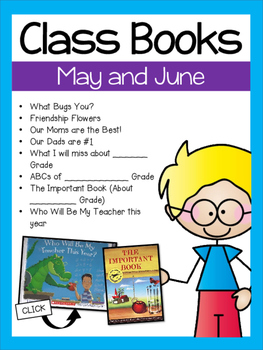 Class Books for the Year {May and June}