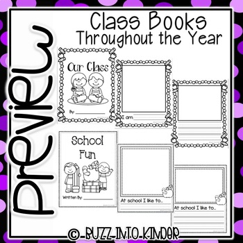 Class Books through the Year In Kindergarten