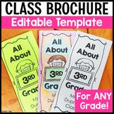 Editable Class Brochure