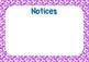 Class Bulletin/ Notice Board {Rainbow Yoshi Eggs themed}