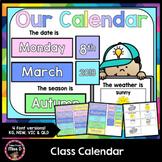 Class Calendar (Rainbow Pastel)