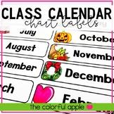 Class Calendar Chart