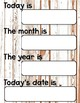 Class Calendar {Distressed Wood}
