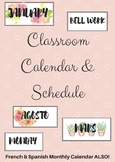 Class Calendar & Schedule {English, French & Spanish!}