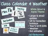 Class Calendar Set - White Wood theme