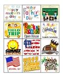 Class Calendar for ALL YEAR