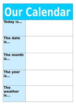 Class Calendar with Weather
