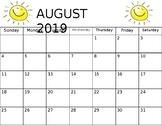 Class Calendars 2019-2020