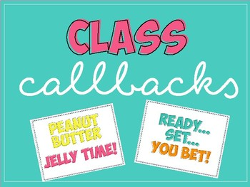 Class Callbacks