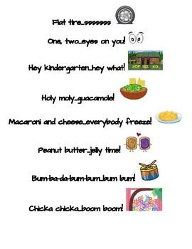 Class Callbacks - Kindergarten