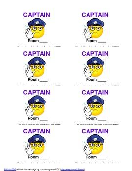 Class Captain Pass & Badge