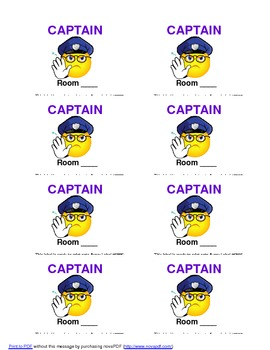 Class Captain Pass & Badge