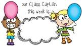 Class Captain Poster