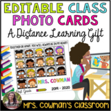 Class Card - Editable Distance Learning Gift