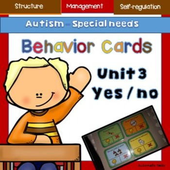 Visual Support,  Autism/special Needs, Yes/No Class Cards 3