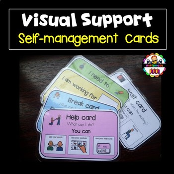 Support Task Cards for Behaviour Management -Autism.