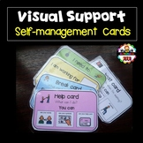 Visual Support Self-Management Cards -Autism.