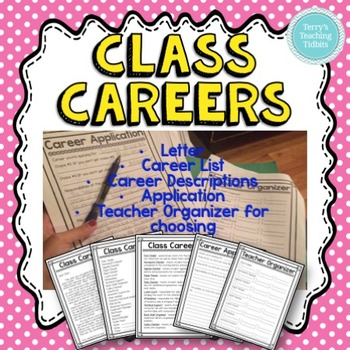 Class Careers: Jobs Pack for Upper Elementary {Editable}