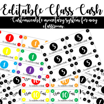 Class Cash Monetary System *Completely Editable!*
