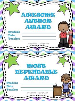 Class Certificates End of Year Certificates Class Rewards Reward Certificate