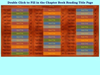 Class Chapter Book Reading Tracker