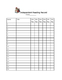 Class Chart for Independent Reading