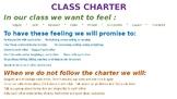 Class Charter - RULER