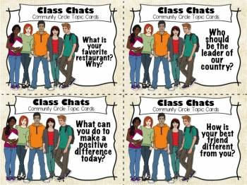 Community Circle Conversation Prompts - Secondary Version