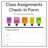 Class Check-In Form for Distance Learning