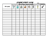 Class Check in/Check out Chart