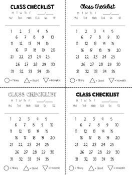 Class Checklist
