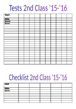 Class Checklists