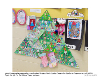Class Triangle Christmas Tree Geometry Project!
